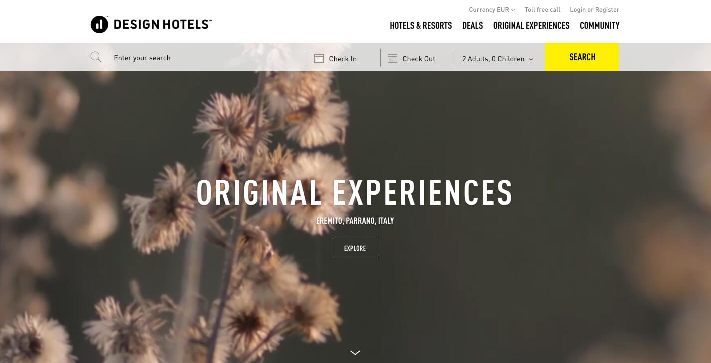 Design Hotels™ Original Experiences